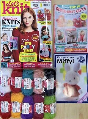 Lets knit magazine dec 2018 easy to knit girl bear issue 139