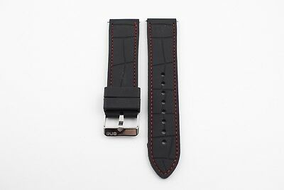 Watch Strap - Black - Silicone - 24Mm - Ene Brand / New