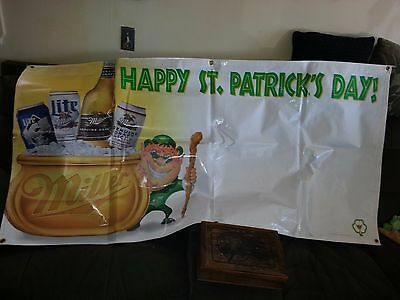 Miller Beer St. Patrick's Day Banners  5 foot by 2 foot 1996