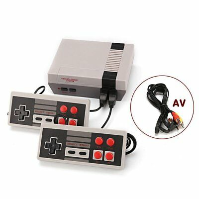 Mini Vintage Retro TV Game Console Classic 500 Built-in Games 2 Gamepad Kid Gift