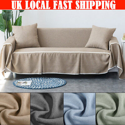 4 Seat Universal Elastic Stretch Sofa Protector Cover Soft Slipcover Easy Instal