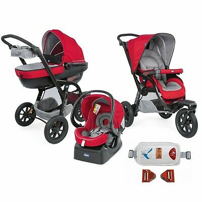 Trio Chicco Activ3 Top Red Berry + Kit Auto