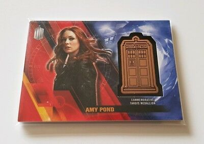 Topps Dr Who Timeless Amy Pond Bronze Tardis Medallion 072/150