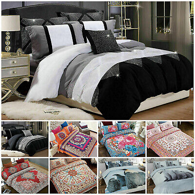 Duvet Cover Bedding Set With 2 Pillow Case Quilt Bedding Single Double King Size