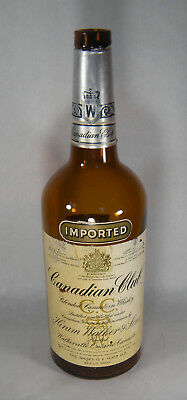 """Canadian Club Whiskey Advertising Display Bottle Liquor Store Empty 19"""" 1970"""