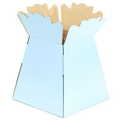 Pale Blue - Living Vases Florist Bouquet Box Flower Plant Aqua Sweet Gift Boxes