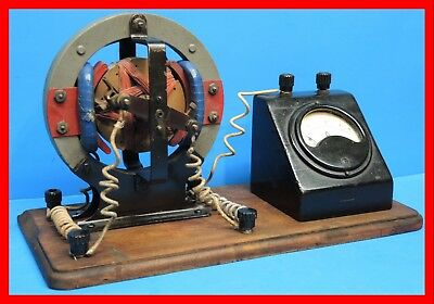 Vintage Electric Motor with Meter - RARE - Works good.- Miniature