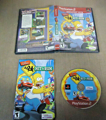 Sony PlayStation 2 PS2 Complete CIB Resurfaced The Simpsons Hit & Run Greatest H