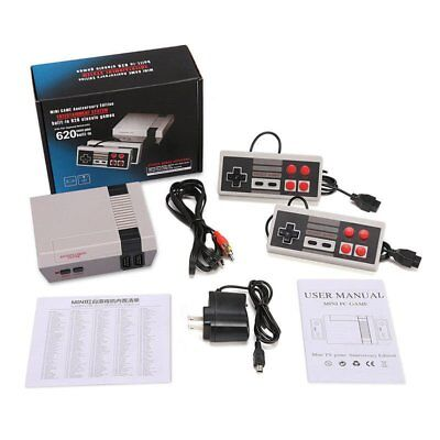 Mini Vintage Retro TV Game Console Classic 621 Built-in Games 2 Gamepad