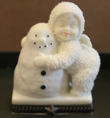 "Dept. 56 Snowbabies ""I Love You"" Bisque Porcedlain Hinged Box  #68867 Retired"