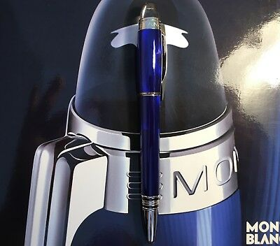 MONTBLANC STARWALKER COOL BLUE LIMITED FOUNTAIN PEN with MONTBLANC PEN POUCH