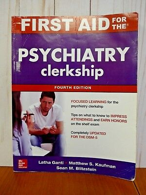 First Aid for the Psychiatry Clerkship 4th US Edition Paperback (XK502)