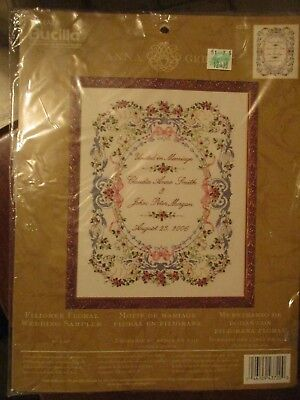 Bucilla Anna Griffin Filigree Floral Wedding Sampler Ribbon Embroidery Kit 43720