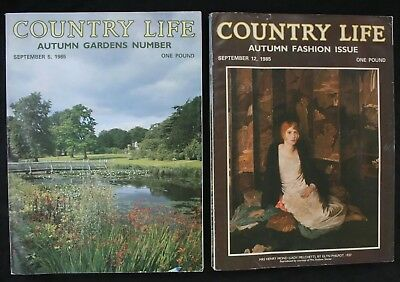 Country Life Magazine x 7 1985 July - September