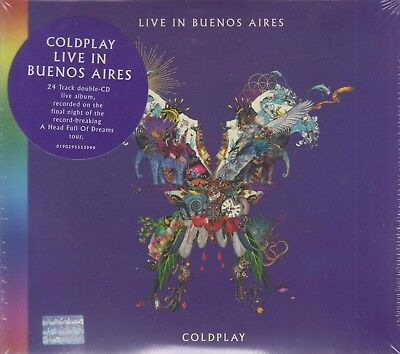 NEW - Coldplay 2 CD's  Live In Buenos Aires Warner Music 190295553999