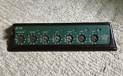 Vintage The Lightning Adding Machine Co~Manual Calculator-Bakelite Included