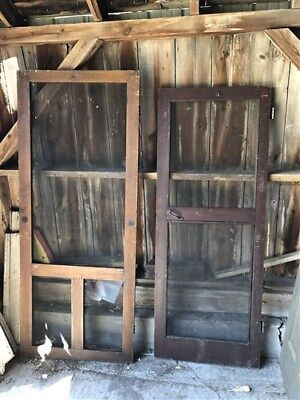 10 Vintage Set of Wood Screen Doors Architectural Salvage Trim Panel Frame a29