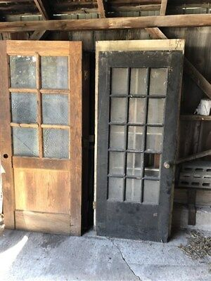 Set Of 10 Vintage Wood Doors Architectural Salvage Trim Paned Unpaned Panel a21