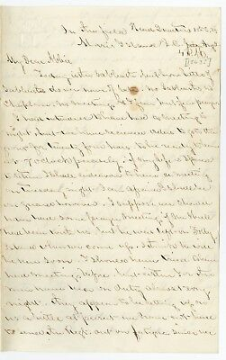 Civil War Letter from a Union Army Soldier Writing Home to his Wife