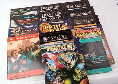 HUGE LOT of 14 Traveller GDW / Imperium SC 1980's / '90's All Good Examples Nice