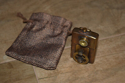 Steampunk Zippo Lighter Rare HAND MADE Custom w/ Compass ~Double Sided~ 3D