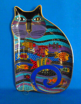 "Laurel Burch ""Cat Fish"" Plate Royal Doulton Franklin Mint 1995"