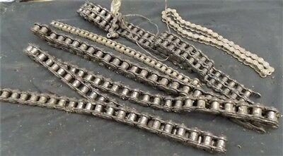 Sections Old Rusty Thick Chain Salvaged Iron Barn Find Metal Art Steampunk c