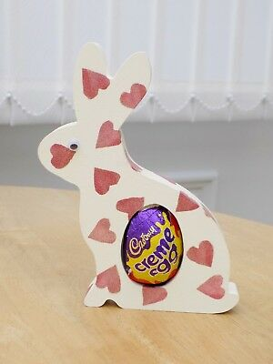 Emma Bridgewater themed Easter Bunny decorated in Hearts Pattern. With Egg