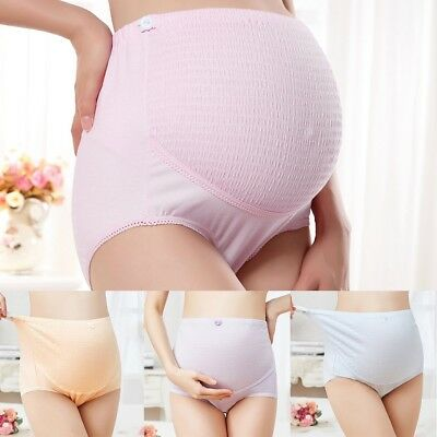 Maternity Lace Solid Panties High Waist Breathable Underwear Seamless Briefs