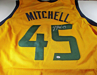Donovan Mitchell   Hand Signed Utah Jazz Yellow Custom Basketball Jersey    Coa 43f109a30