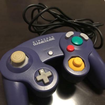 Nintendo Official GameCube Wii Controller Original Purple From Japan F/S
