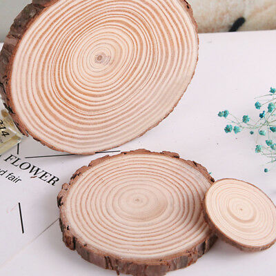 2X Wooden Log Slices DIY Crafts Tea Coffee Cup Mat Home Wedding Decoration