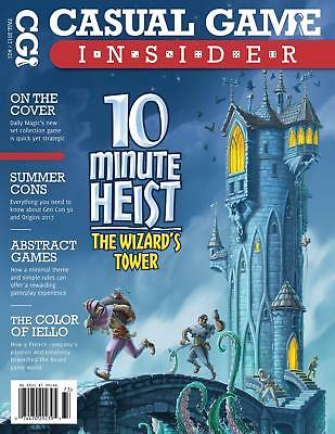 """CGR Casual Game Insid #21 """"10 Minute Heist, Summer Coins, Abstract Gam Mag MINT"""