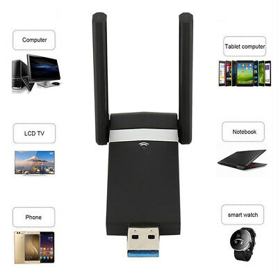CHIAVETTA USB DONGLE WIFI 2.4/5.8GHz 1200Mbps ADATTATORE WIRELESS ANTENNA IT