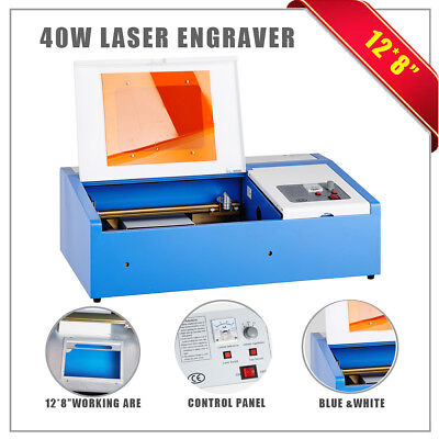 New 40W CO2 Laser Engraving Cutting Machine Engraver Cutter USB Port.
