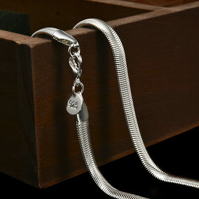 """Wholesale 925 Silver solid 6MM snake chain Mens Womens necklace 16-30""""Jewelry"""