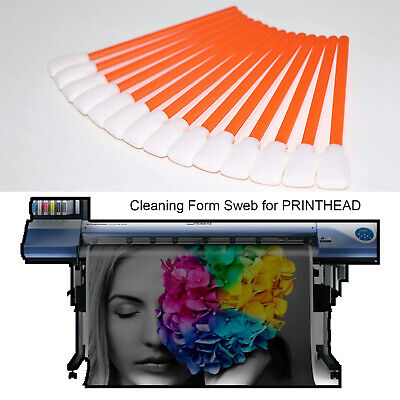 Cleaning Swabs Foam for MIMAKI Solvent Large Format Printer Printhead 50 pcs