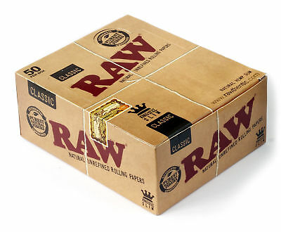 RAW Classic King Size SLIM unrefined rolling paper 1 box 1600 papers Cigarette