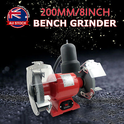 "8"" Bench Grinder 350W 200mm Knife Sharpener Power Tool Industrial Grinding A"