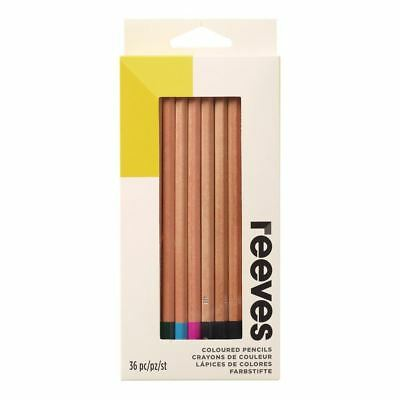 Reeves Set Of 36 Coloured Pencils Artists Blendable 4H Strong Leads