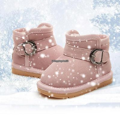 New Infant Newborn Baby Soft Sole Boots Toddler Buckle Winter Shoes EH7E