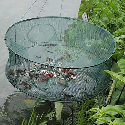 Round Shape Automatic Fishing Net Open Crab Crawfish Shrimp Lobster Trap Cage