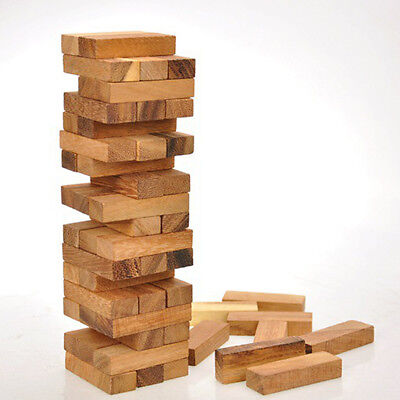 Wooden Stacking Tumbling Tower Block Board Game for Kids Traditional Games M