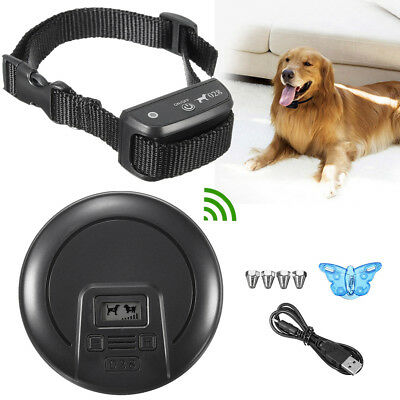 Wireless Dog Fence System No-Wire Pet Collar Containment Rechargeable Waterproof