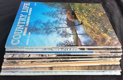 Country Life Magazine x 6 Issues January - March 1986