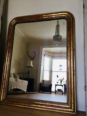 Antique French 19th Century Louis Philippe Gilt Mirror - Original Glass