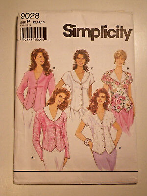 Simplicity 9923 Misses Plus Size Blouse Tops Shirt Easy Sew Pattern