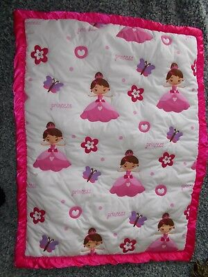 New Handmade Pretty Pink Baby Nursery Cot Quilt, Playmat