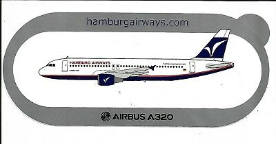 Airbus Sticker Autocollant A320 Hamburg Airways - Neuf