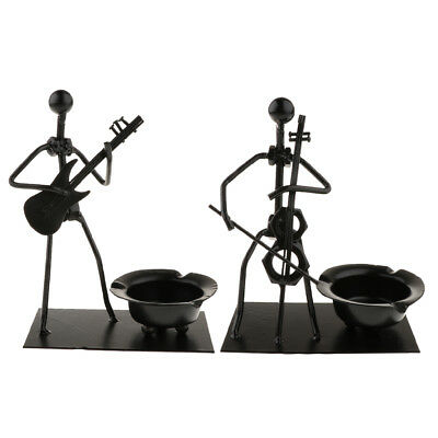 Carved Cigarette Ash Tray Indoor Pub Bar Smoker Ashtray Music Band Figurines